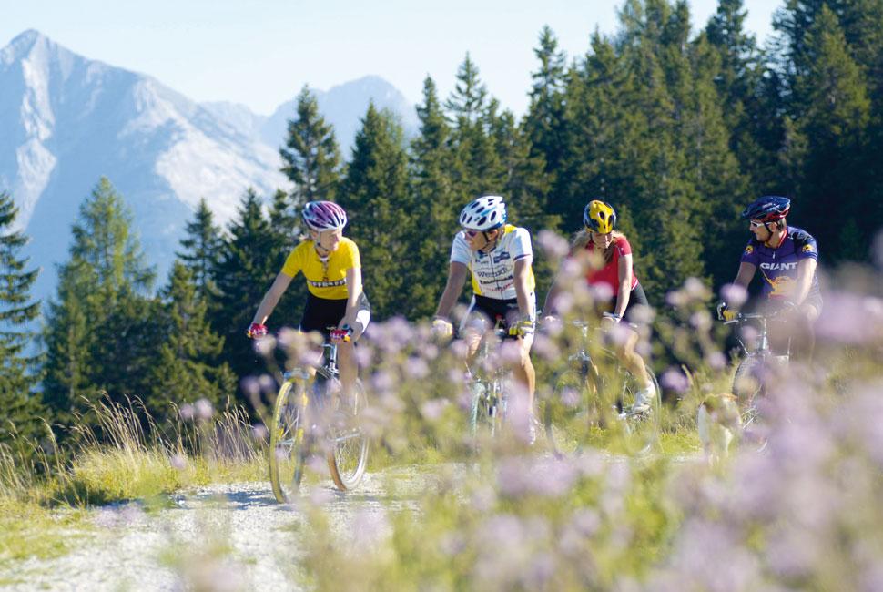 Mountainbiken in der Ferienregion Seefeld - Bio Landpension Monika