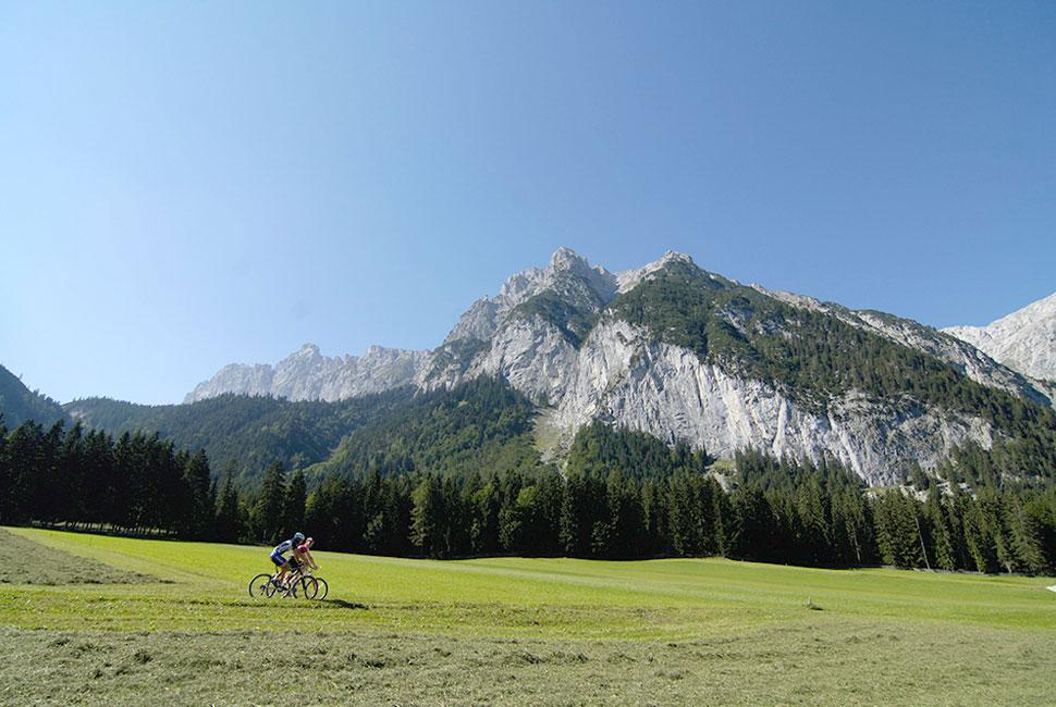 Radfahren in Leutasch - Urlaub in der Bio Landpension Monika